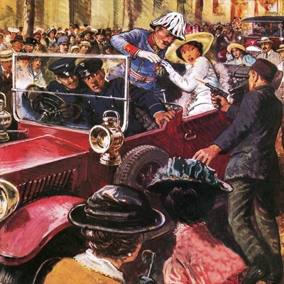 Fine Art Print of The assassination of Archduke Franz Ferdinand by Clive Uptton