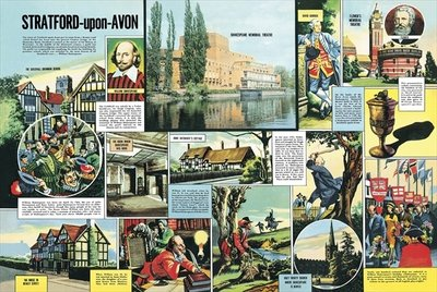 Stratford-upon-Avon Poster Art Print by Ron Embleton