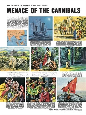 The Travels of Marco Polo Poster Art Print by Ron Embleton