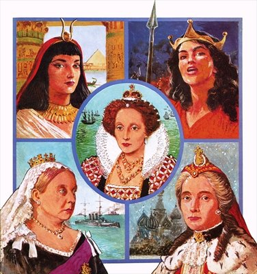 Women who ruled Poster Art Print by Clive Uptton
