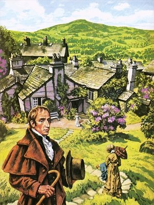 William Wordsworth at Dove Cottage Poster Art Print by Harry Green