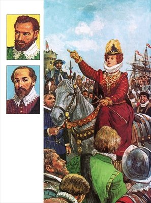Fine Art Print of Queen Elizabeth I's Armada speech by Clive Uptton