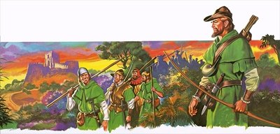 Robin Hood and his merry men Poster Art Print by Ron Embleton