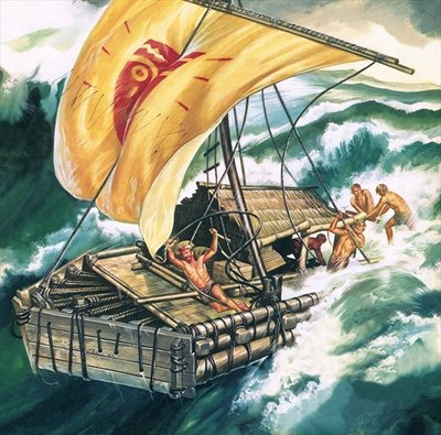 The Voyage of the Kon-Tiki Poster Art Print by Ron Embleton