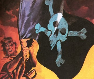 Raising the Jolly Roger Poster Art Print by Ron Embleton