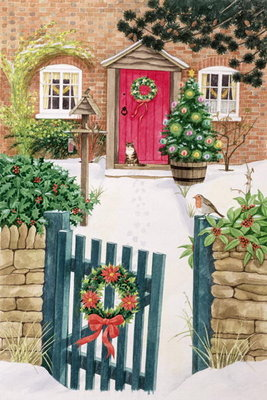 Fine Art Print of Snowy Front Garden by Linda Benton