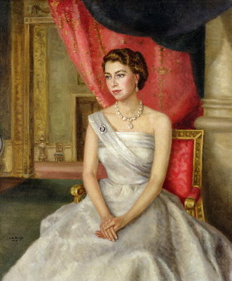 Fine Art Print of Queen Elizabeth II by Lydia de Burgh