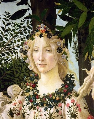 Fine Art Print of Flora, detail from the Primavera, c.1478 by Sandro Botticelli