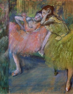 Fine Art Print of Two Dancers in the Foyer, c.1901 by Edgar Degas
