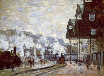 Fine Art Print of Gare Saint-Lazare, Paris, 1877 by Claude Monet