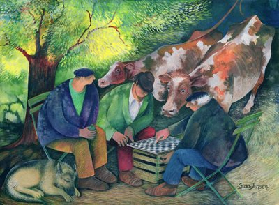 Fine Art Print of Cow Dealers by Lisa Graa Jensen