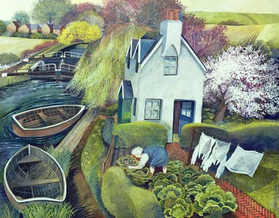 St. Catherine's, Lock Gates Poster Art Print by Lisa Graa Jensen