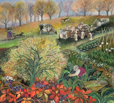 Fine Art Print of George's Allotment by Lisa Graa Jensen