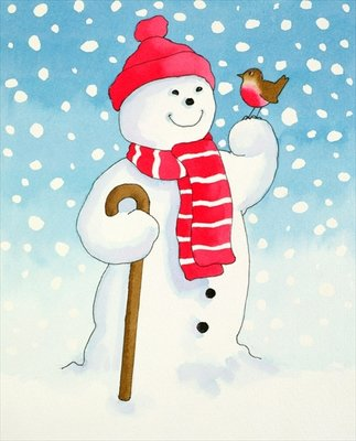 Snowman's Friend by Lavinia Hamer - print