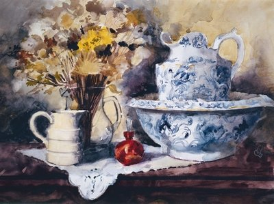 Bowl and Jug Poster Art Print by John Lidzey