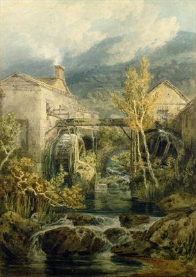 The Old Mill, Ambleside Poster Art Print by Joseph Mallord William Turner