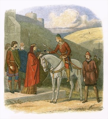 Fine Art Print of Edward murdered at Corfe by James E. Doyle