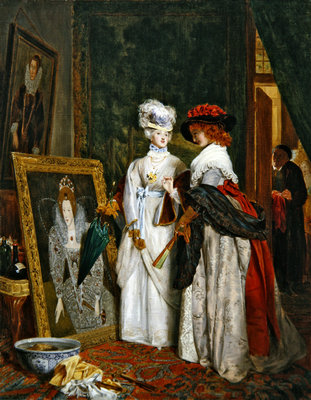 Critics on Costume, Fashions Change Poster Art Print by John Callcott Horsley