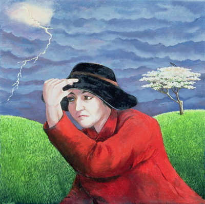 Determination, or Weathering the Storm (oil on canvas) by Liz Wright - print