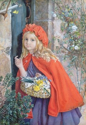 Little Red Riding Hood, 1862 Poster Art Print by Isabel Oakley Naftel