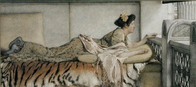 Fine Art Print of Dolce fa Niente, 1873 by Sir Lawrence Alma-Tadema
