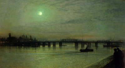 Fine Art Print of Battersea Bridge, 1885 by John Atkinson Grimshaw