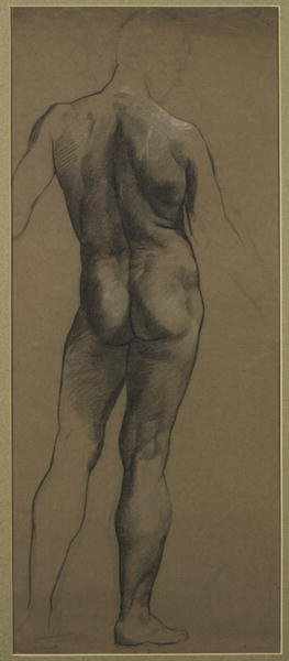 Fine Art Print of Male Nude Study by Evelyn De Morgan