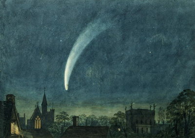 Donati's Comet over Balliol College Poster Art Print by William of Oxford