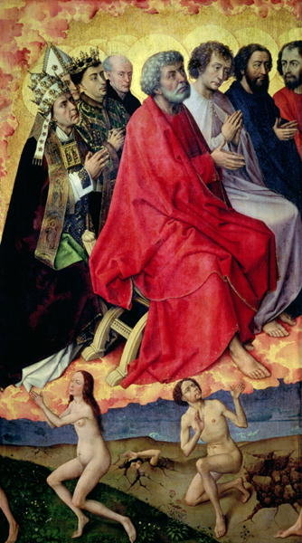Detail of the Resurrection from the Dead, from The Last Judgement, c.1445-50 Poster Art Print by Rogier van der Weyden