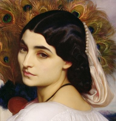 Fine Art Print of Pavonia, 1859 by Frederic Leighton