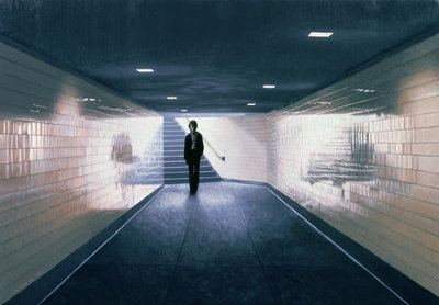 Fine Art Print of Man Entering Subway Station, 1983 by Max Ferguson
