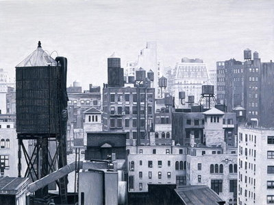 Fine Art Print of New York Water Towers, 2002 by Max Ferguson