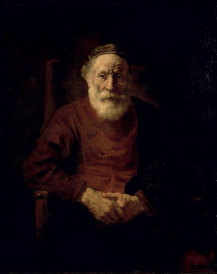 An Old Man in Red Poster Art Print by Rembrandt Harmensz. van Rijn