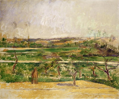 Fine Art Print of Landscape, Aix en Provence, c.1879 by Paul Cezanne