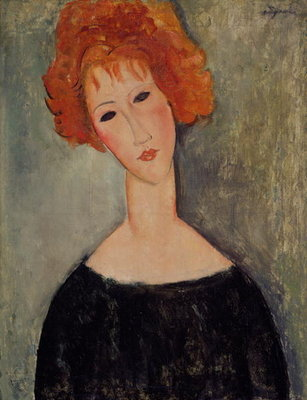 Red Head Poster Art Print by Amedeo Modigliani