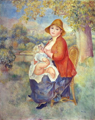 Fine Art Print of Maternity, 1885 by Pierre Auguste Renoir