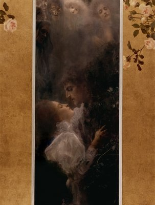 Fine Art Print of Love, 1895 by Gustav Klimt