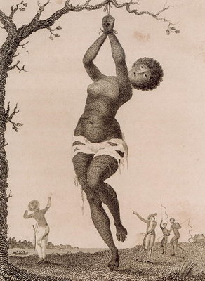 Fine Art Print of Flagellation of a Female Samboe Slave, engraved by William Blake by John Gabriel Stedman