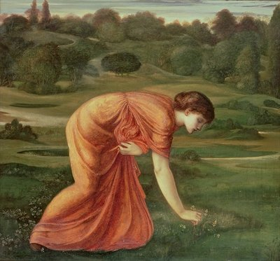 Fine Art Print of The March Marigold, c.1870 by Sir Edward Burne-Jones