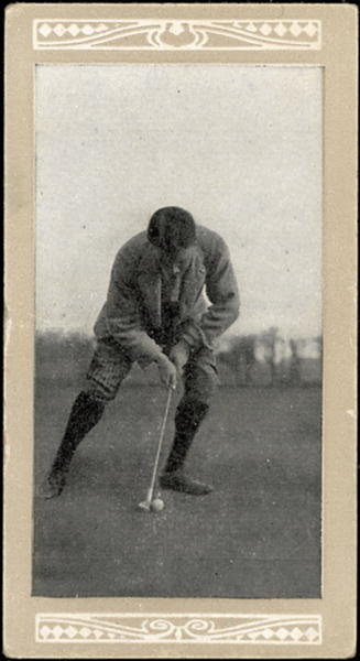 Fine Art Print of H.H. Hilton, Putting, no.50 from a series of 'Marsuma's Cigarettes' cards by English School