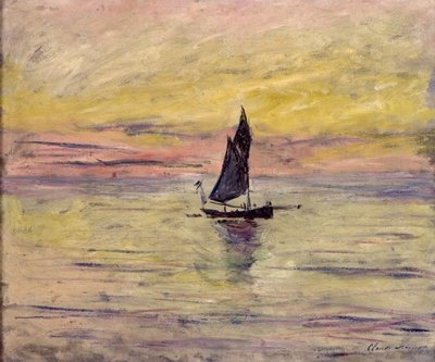 The Sailing Boat, Evening Effect, 1885 Poster Art Print by Claude Monet