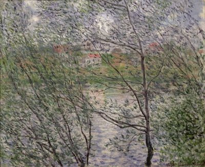 Fine Art Print of The Banks of the Seine or, Spring through the Trees, 1878 by Claude Monet