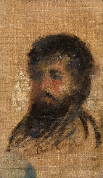Portrait of Claude Monet Poster Art Print by Pierre-Auguste Renoir