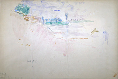 The banks of the Loire, 1887 Poster Art Print by Berthe Morisot