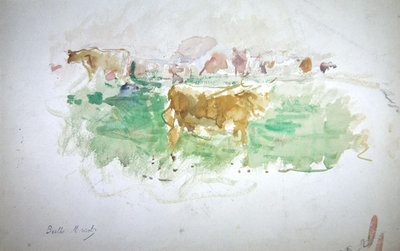 Cows in Normandy, 1880 Poster Art Print by Berthe Morisot