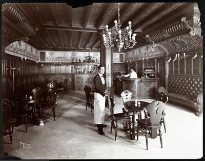 Fine Art Print of The Dutch Room at the Hotel Manhattan, 1902 by Byron Company