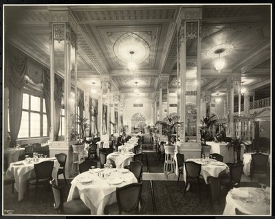 Fine Art Print of A dining room at the Robert Treat Hotel, Newark, New Jersey, 1916 by Byron Company
