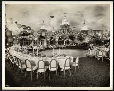 Fine Art Print of The Viennese Roof at the Hotel St. Regis, 1937 by Byron Company