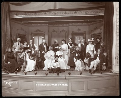 Fine Art Print of A scene from an amateur production of a play titled &amp;quot;The Manoeuvers of Jane&amp;quot; presented at Barnard College, New York by Byron Company