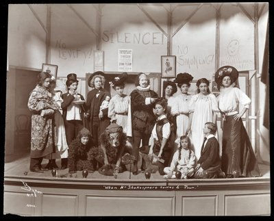"Fine Art Print of The cast from an amateur production of a play titled ""When Mr. Shakespeare Comes to Town"" presented at Barnard College, New York by Byron Company"